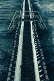 Açık ocak linyit madeni. bant konveyör. — Stok fotoğraf