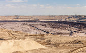 Opencast brown coal mine. Open pit. — Stock Photo