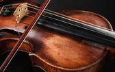 Closeup of violin instrument. Classical music art — Stock Photo