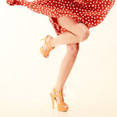 Sexy female legs in dance. — Stock Photo