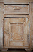 Closeup of wooden kitchen cabinet — Stok fotoğraf