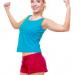 Sport woman showing her muscles — Stock Photo #48747521