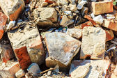 Closeup stack of old bricks. — Stock Photo