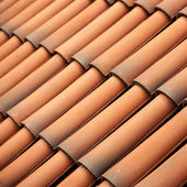 Red tiles roof texture architecture — Stock Photo