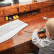 Little child playing on the computer — Stock Photo #48822135