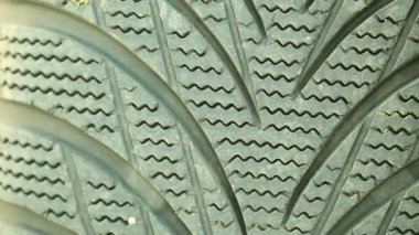 Rubber industrial tire profile texture — Stock Video