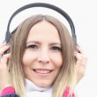 Young woman with headphones — Stock Video #49350759