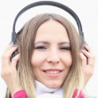 Young woman with headphones — Stock Video #49355841