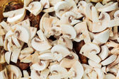 Roasted chicken meat with mushrooms — Stock Photo