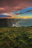 Cliffs of Moher at sunset in Co. Clare Ireland — Stock Photo