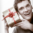Man got golden gift box — Stock Photo #50376729