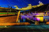 Sailing ships in harbor — Stock Photo