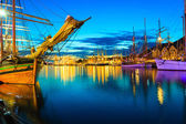 Ships in harbor during the tall ships races — Stock Photo