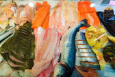 Fishes at fish market (Fisketorget) in Bergen, Norway — Stock Photo