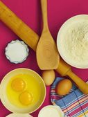 Preparation for baking, bake ingredients. — Stock Photo