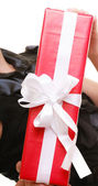 Holidays love happiness concept - girl with gift box — Stockfoto