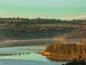 Morning fog over the river Co.Cork, Ireland Europe — Stock Photo