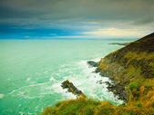 Irish landscape. Coastline atlantic ocean coast scenery. — Стоковое фото