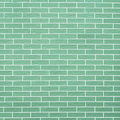 Closeup of green brick wall as background or texture — Stock Photo