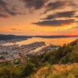 Cityspace of Bergen, panoramic view — Stock Photo #51546955