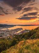 Cityspace of Bergen, panoramic view — Stock Photo