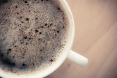 Beverage. Cup of hot drink coffee with froth. — Stock Photo