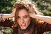 Woman in rage — Stock Photo