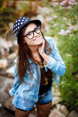 Young female outdoors — Stock Photo