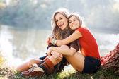 Den volna s přítelem — Stock fotografie