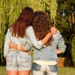 Stock Photo: Two females in jeanswear