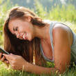 Teenage girl using tablet pc — Stock Photo #37976917