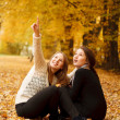 Two young females outdoors — Stock Photo #37977219