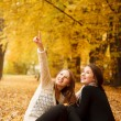 Two young females outdoors — Stock Photo #37977221