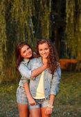 Two teenage girls — Photo