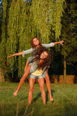 Two teenage girls — Stock Photo