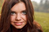 Closeup of young female smiling — Foto de Stock