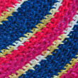 Color pattern of woolen yarn — Stock Photo
