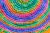 Color pattern of woolen yarn — Stockfoto