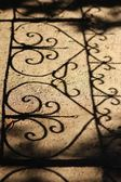 Background with shadow of Gate — Stock Photo