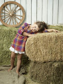 Girlwithhay — Stock Photo