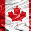 Canada Flag Satin — Stock Photo