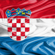 Croatia Flag Satin - Stock Photo