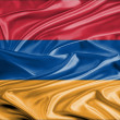 Armenian flag satin - Stock Photo