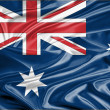 Australia Flag Satin — Stock Photo