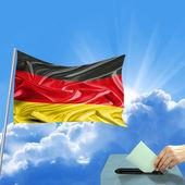 немецкий флаг выборы — Стоковое фото