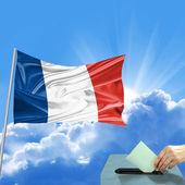 France Flag election — Stock Photo