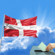 Denmark flag election — Foto de stock #28421567