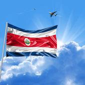 Costa Rica flag holiday — Stock Photo