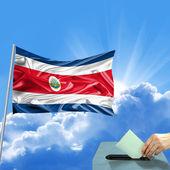 Costa Rica flag election — Stock Photo