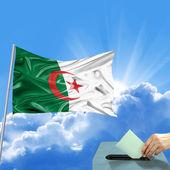 Algerien flagge wahl — Stockfoto